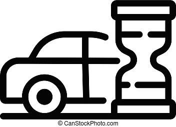 εικόνα , περίγραμμα , ώρα , κλεψύδρα , ρυθμός , ταξί , αναμονή