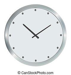 εικόνα , ρολόϊ τοίχου , απομονωμένος , μικροβιοφορέας , άσπρο , ασημένια