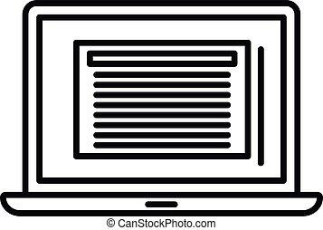 εικόνα , ρυθμός , περίγραμμα , περίληψη , laptop