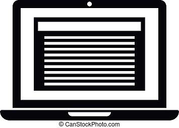 εικόνα , ρυθμός , περίληψη , laptop , απλό