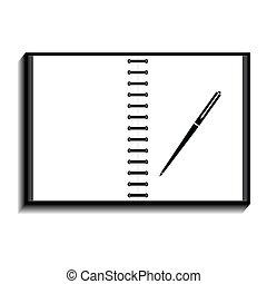 εικόνα , σημειωματάριο , πένα