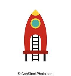 εικόνα , σκάλεs , παιδική χαρά , πύραυλοs , κόκκινο