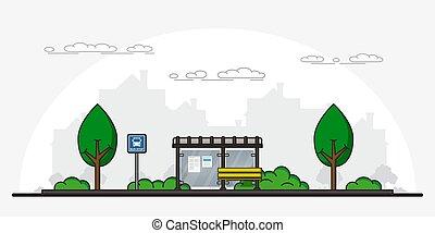 εικόνα , σταματώ , λεωφορείο