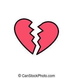 εικόνα , σχεδιάζω , συντετριμμένη καρδιά , απομονωμένος , μικροβιοφορέας