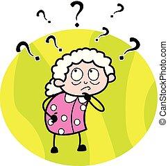 εικόνα , σύγχυσα , μικροβιοφορέας , γιαγιά , - , γριά , γελοιογραφία