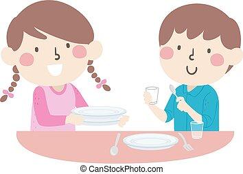 εικόνα , τραπέζι , νοικοκυριό αγγαρεία , θέτω , μικρόκοσμος
