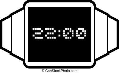 εικόνα , ψηφιακό ρολόι