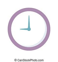εικόνα , ώρα , απομονωμένος , φόντο , στρογγυλός , ρολόι , άσπρο