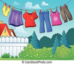 εικόνα , 1 , θέμα , γραμμή , ρουχισμόs , ρούχα
