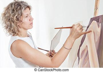 εικόνα , brushes., ζωγράφος , απεικονίζω
