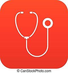 εικόνα , phonendoscope, κόκκινο , ψηφιακός