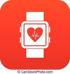 εικόνα , smartwatch, κόκκινο , ψηφιακός