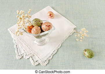 εικών άψυχων πραγμάτων , με , σοκολάτα easter αβγό , και , λουλούδια
