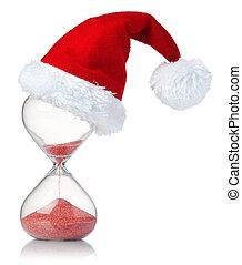 εκδήλωση , διάβαση , santa , ώρα , καπέλο , xριστούγεννα , κλεψύδρα