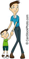 εκδιώκω με εκφοβισμό , πατέραs , υιόs