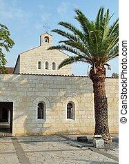 εκκλησία , από , πολλαπλασιασμός , πρόσοψη , μέσα , tabgha