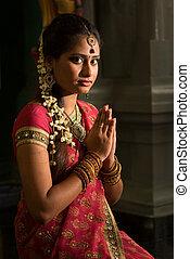 εκλιπαρώ , ινδός , γυναίκα