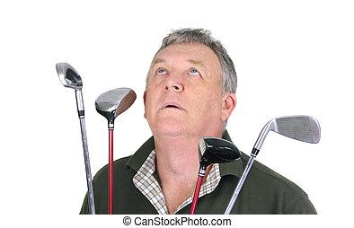 εκλιπαρώ , παίζων γκολφ
