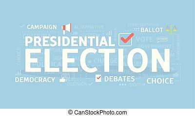 εκλογή , γενική ιδέα , illustration.