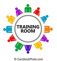 εκπαίδευση , σήμα , σύνολο , δωμάτιο , άνθρωποι
