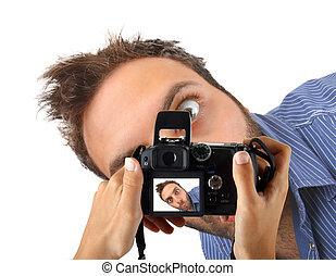 εκπληκτική επιτυχία , φωτογραφηκή μηχανή , έκφραση