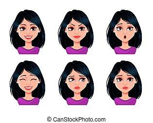 εκφράσεις , σκοτάδι , γυναίκα αντικρύζω , μαλλιά