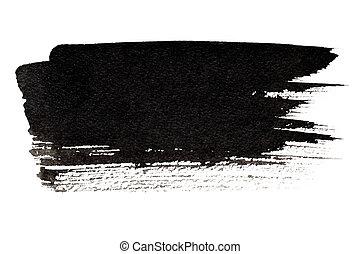 εκφραστικός , χτύπημα , μαύρο , βούρτσα
