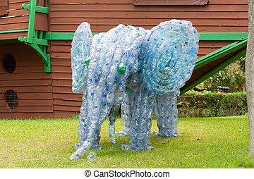ελέφαντας , γινώμενος , από , αγαλματώδης δέμα