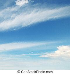ελαφρείς , θαμπάδα , μέσα , ο , γαλάζιος ουρανός