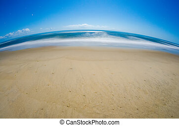 ελαφρείς , φεγγάρι , ατλαντικός , νύκτα , οκεανόs , παραλία
