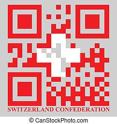 ελβετία , qr, σημαία , μικροβιοφορέας , κρυπτογράφημα