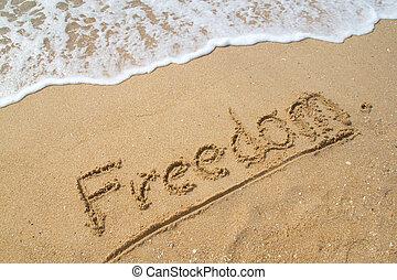 ελευθερία , ακρογιαλιά. , λέξη