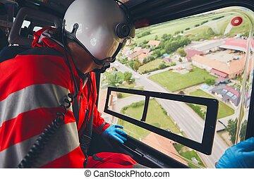 ελικόπτερο , ιατρικός , emergecy, υπηρεσία