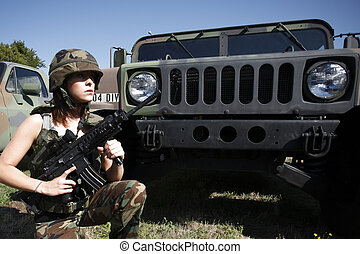 ελκυστικός προς το αντίθετον φύλον , γυναίκα , στρατιωτικός