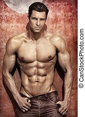 ελκυστικός προς το αντίθετον φύλον , μοντέλο , αρσενικό