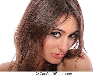 ελκυστικός προς το αντίθετον φύλον , παιγνιδιάρης , brunette., νέος
