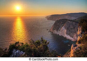 ελληνικά , ηλιοβασίλεμα