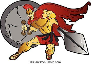 ελληνικά , spartan, πολεμιστής , ρωμαϊκός , γενναίο και φιλεργό άτομο