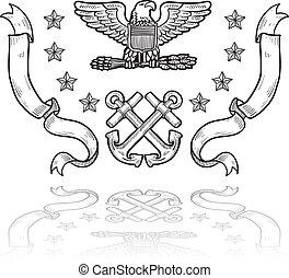 εμάσ ναυτικό , στρατιωτικός , διακριτικά αξιώματος