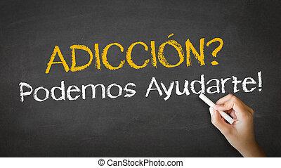 εμείς , βοήθεια , spanish), μπορώ , εθισμός , (in