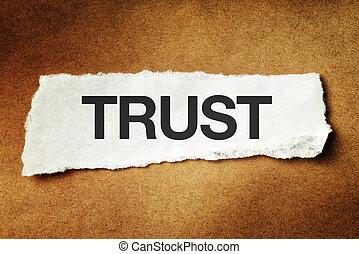 εμπιστεύομαι , κομματάκι , χαρτί , έντυπος
