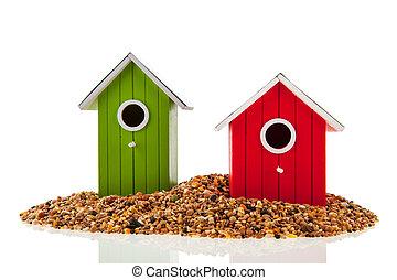 εμπορικός οίκος , σπόρος , αγίνωτος πουλί , κόκκινο