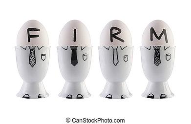 εμπορικός οίκος , concept., αυγά