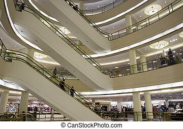 εμπορικό κέντρο , κυλιόμενη σκάλα