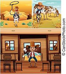 ενέργειες , αγελαδάρης , αγελαδάρης , γεγονός , διαφορετικός