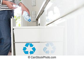 ενήμερος , segregating, δέμα , νοικοκυρά , πλαστικός
