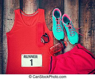 ενδυμασία , έθεσα , τρέξιμο , αγώνας , έτοιμος , εικοσιτετράωρο ακάλυπτος