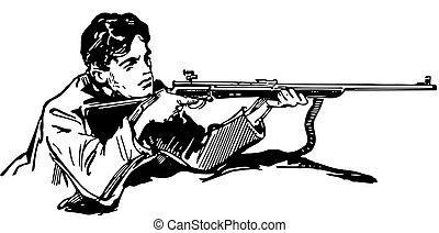 ενεδρεύων πυροβολητής