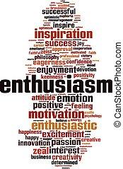 ενθουσιασμός , λέξη , σύνεφο