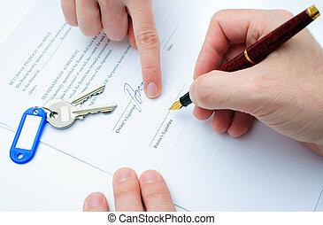 ενοίκιο , συμφωνία